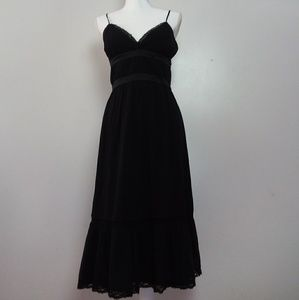 BCBG Paris Spaghetti Strap Silk Black Dress